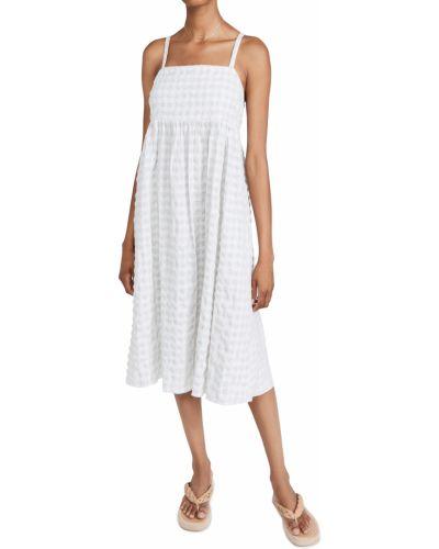 Хлопковое платье миди - зеленое Madewell