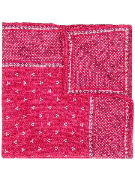 Платок с цветочным принтом шелковый Brunello Cucinelli