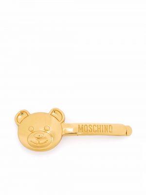 Złoty krawat Moschino