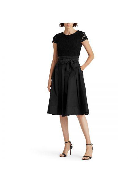 Платье мини миди с прозрачными рукавами La Redoute