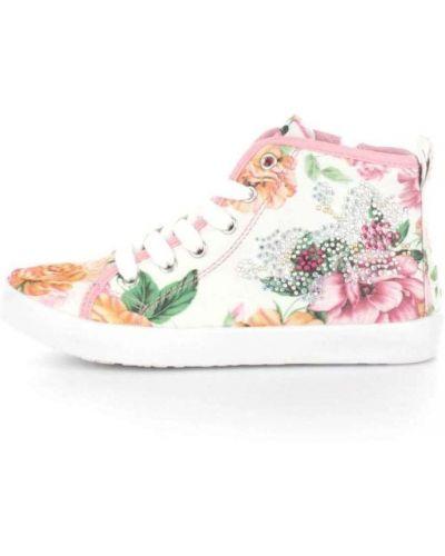 Białe wysoki sneakersy Lelli Kelly