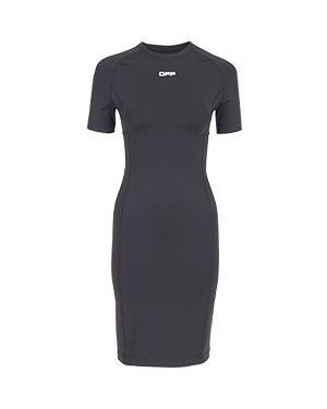 Черное повседневное платье Off-white