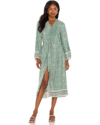 Zielone kimono z wiskozy Cleobella
