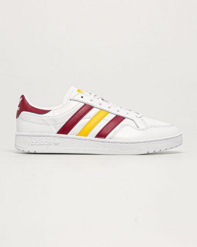 Białe sneakersy skorzane na obcasie Adidas Originals