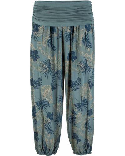 Свободные брюки с поясом зеленый Bonprix