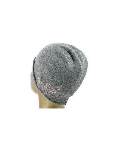 Серая шапка шерстяная Ea7
