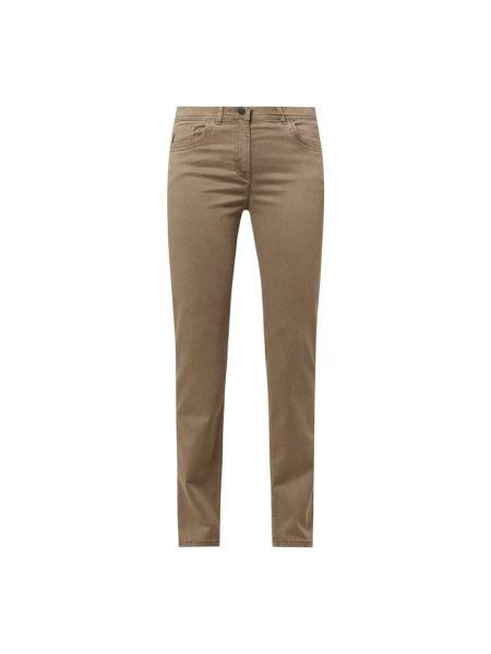 Beżowe spodnie bawełniane Zerres