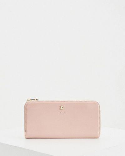 Розовый кожаный кошелек Tous