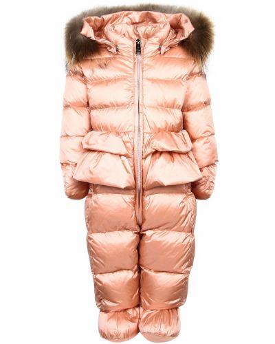 Утепленный розовый комбинезон Add