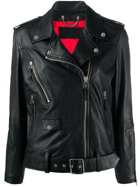 Куртка черная байкерская Golden Goose