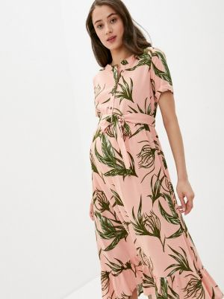 Платье для беременных розовое прямое Mama.licious