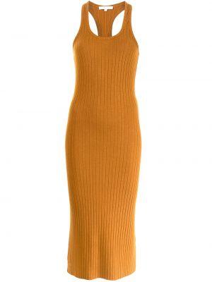 Żółta sukienka z wiskozy Vince