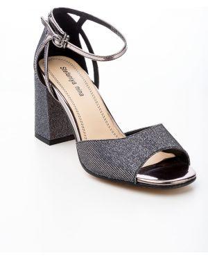 Текстильные черные туфли Stefaniya Nina