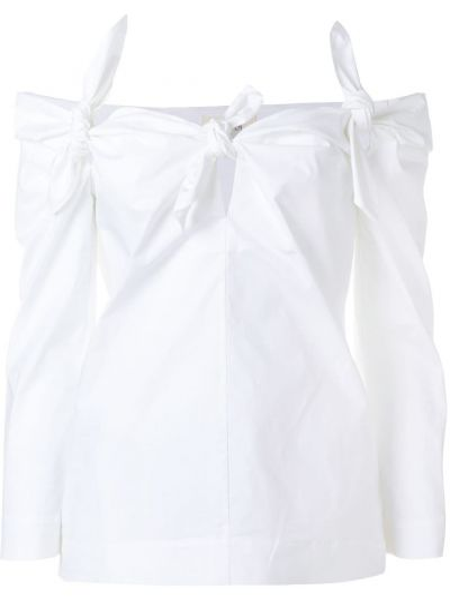 Хлопковая блузка - белая Isa Arfen