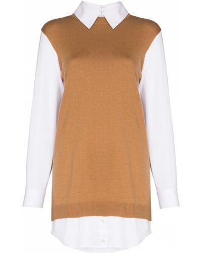 Платье макси с длинными рукавами - белое Staud