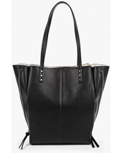 Кожаная сумка из искусственной кожи черная Marks & Spencer