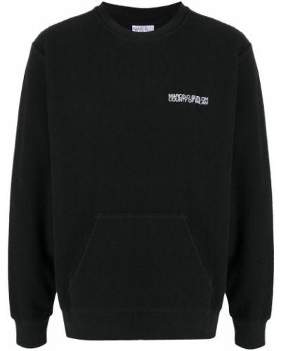 Bawełna prosto sweter z okrągłym dekoltem z długimi rękawami Marcelo Burlon County Of Milan