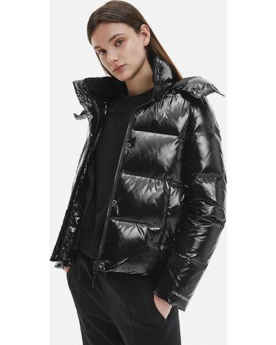 Джинсовая куртка на молнии - черная Calvin Klein Jeans