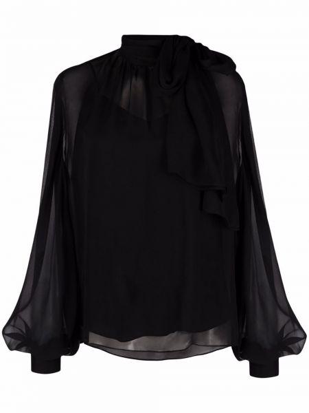Шелковая блузка - черная Karl Lagerfeld