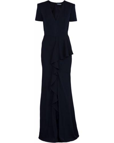 Вечернее платье макси с V-образным вырезом Alexander Mcqueen