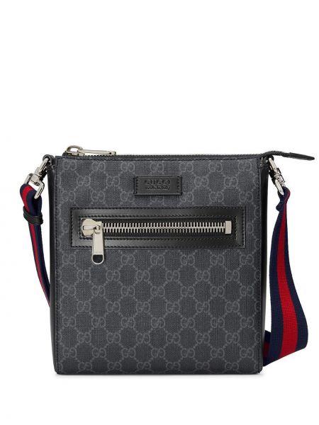 Черная маленькая сумка металлическая на молнии Gucci