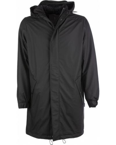 Czarny płaszcz pikowany Rains
