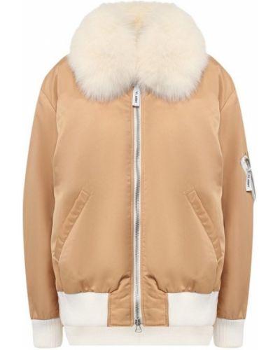 Нейлоновая куртка - бежевая Army Yves Salomon