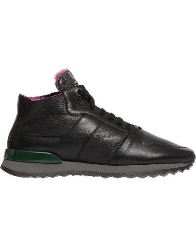 Кроссовки с мехом черные Pakerson