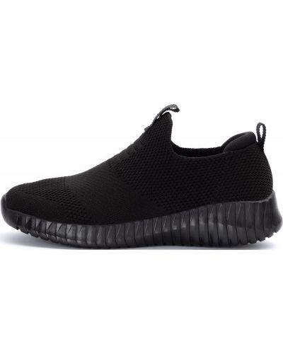 Черные текстильные спортивные кроссовки Skechers