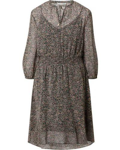 Czarna sukienka rozkloszowana z szyfonu z wiązaniami Jake*s Collection