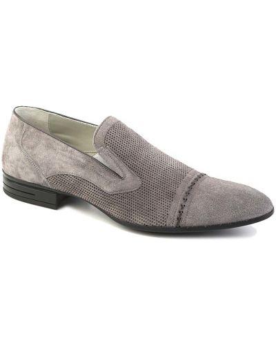 Серые туфли замшевые Dino Bigioni