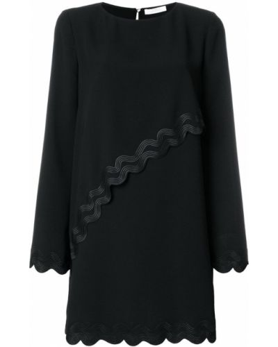 Платье макси длинное - черное Versace Collection