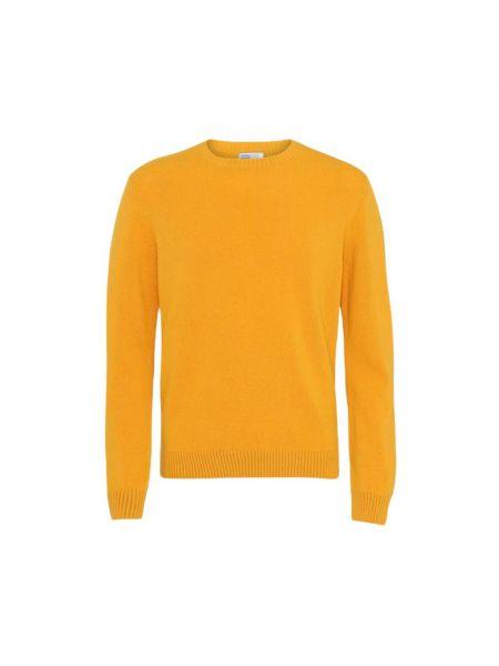 Żółty klasyczny sweter Colorful Standard