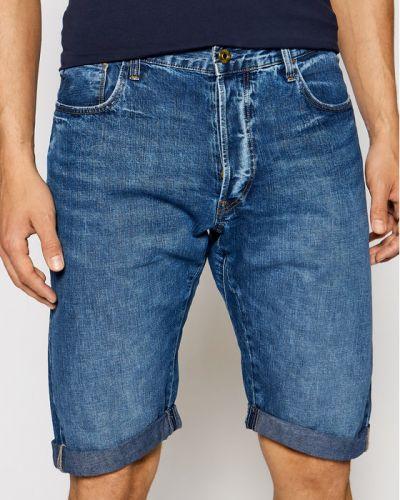 Szorty jeansowe - granatowe G-star Raw