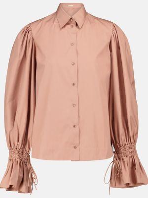 Ciepła beżowa koszula bawełniana Alaã¯a