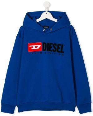 Толстовка с капюшоном с вышивкой Diesel Kids