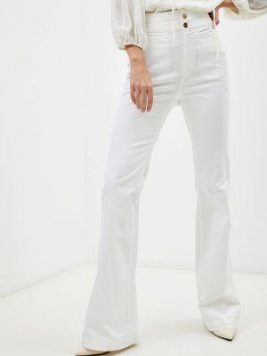 Широкие джинсы - белые Twinset Milano