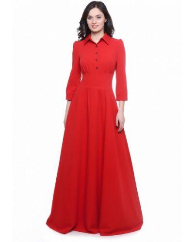 Платье макси красный осеннее Olivegrey
