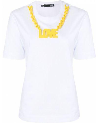 Белая футболка хлопковая Love Moschino