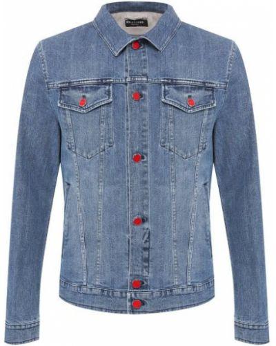 Джинсовая куртка хлопковая голубой Kiton