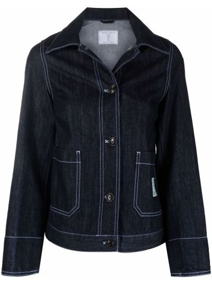 Хлопковая джинсовая куртка - синяя SociÉtÉ Anonyme