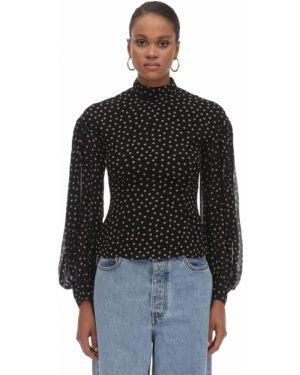 Рубашка с принтом без воротника Ganni