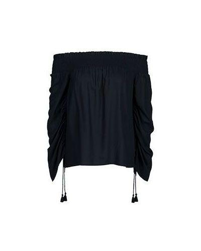 Блузка из вискозы черная Paige