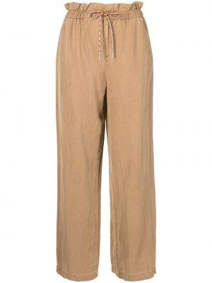 Коричневые хлопковые брюки с завышенной талией Alice+olivia