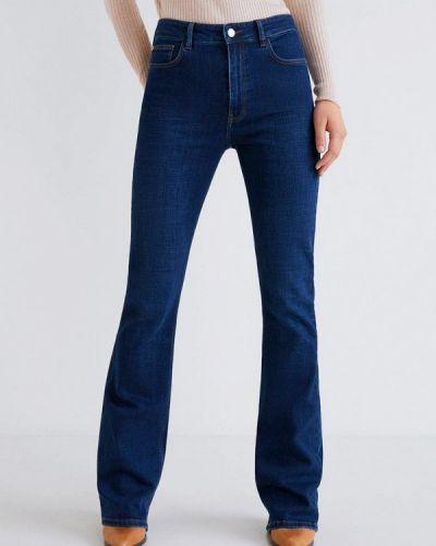 Широкие джинсы расклешенные синие Mango