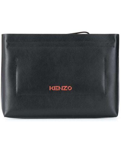 Z paskiem skórzany czarny torba sprzęgło Kenzo