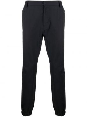 Niebieskie spodnie z paskiem bawełniane Lardini