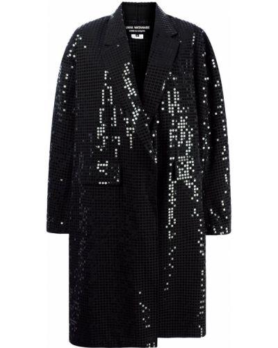 Шерстяной черный удлиненный пиджак оверсайз Junya Watanabe