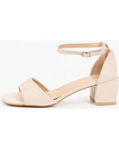 Текстильные бежевые босоножки Ideal Shoes®