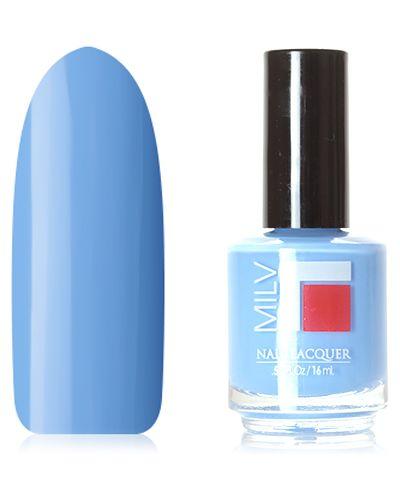 Синий лак для ногтей Milv